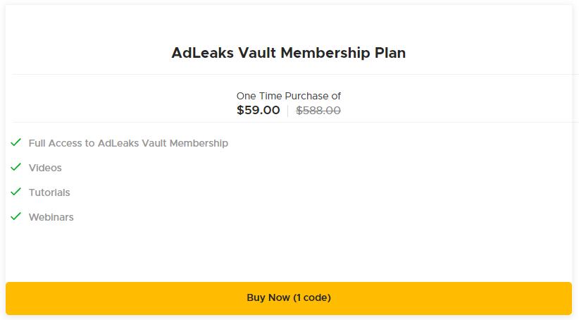 AdLeaks AppSumo Pricing