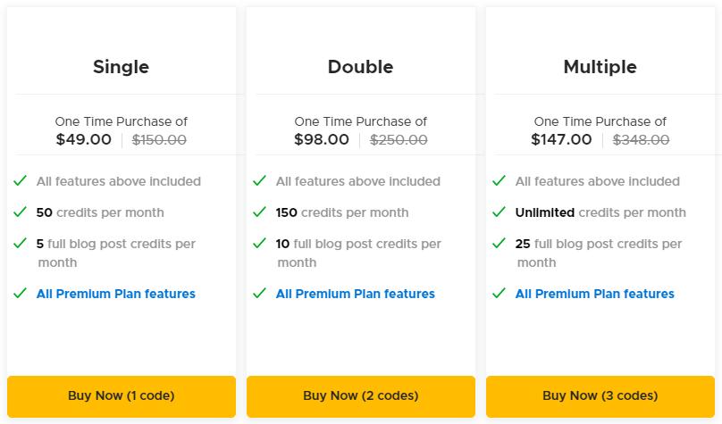 ContentBot AppSumo Pricing