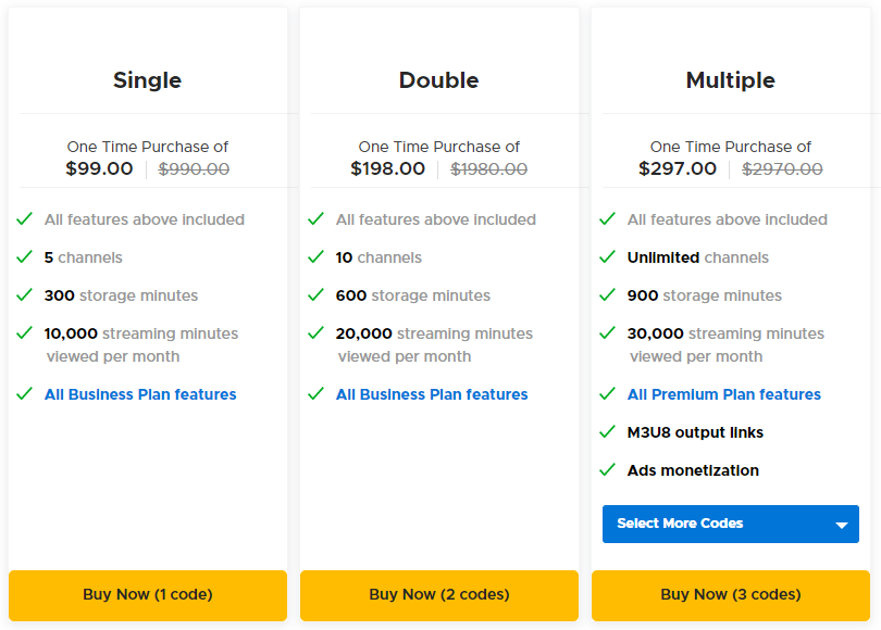 Viloud AppSumo Pricing