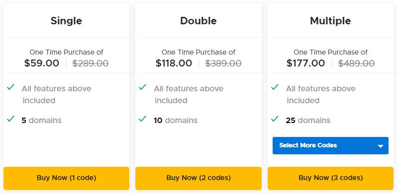wpDataTables AppSumo Pricing